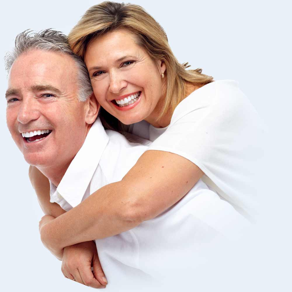 Picture of laughing elderly couple